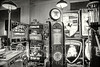 Old Gas Pumps and Signs - B&W Copyright 2017 Steve Leimberg - UnSeenImages Com _Z2A6295