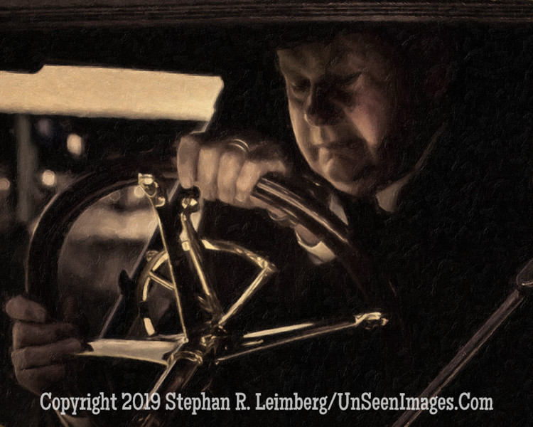 Close Up of Driver  PAINTING - The American II - Copyright 2015 Steve Leimberg - UnSeenImages Com _H1R2580