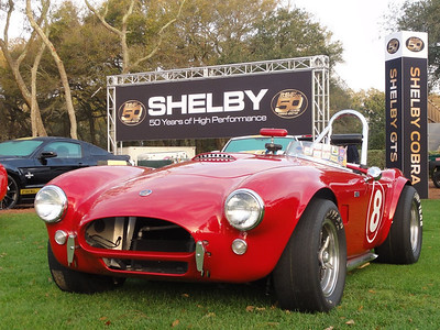 Mike Stott's 1964 AC Cobra at the Amelia Island Concours celebration of the 50th Anniversary of the Shelby Cobra. Photo courtesy of David Stott