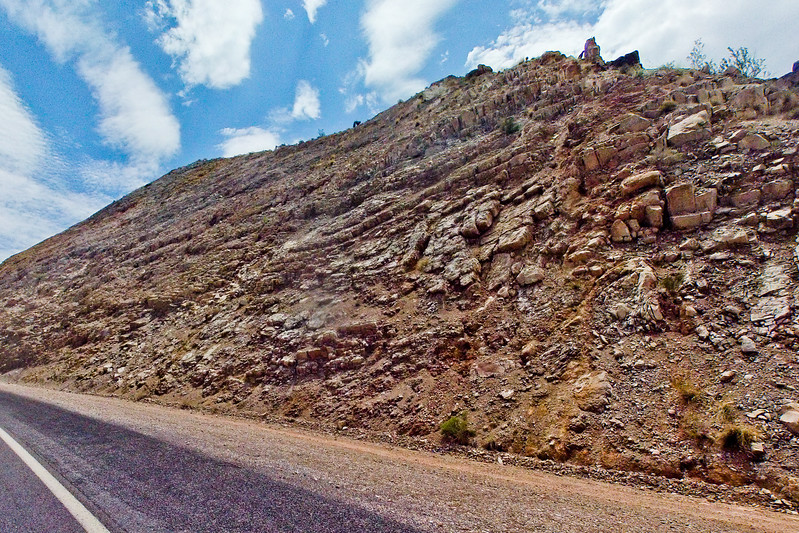 Rough Rock Wall On the Highway