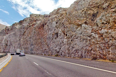 Rock Wall on the Side of the Road