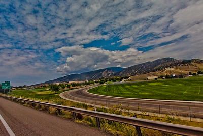 Grass Field and Light Clouds