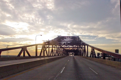 Approaching the Bridge at Sunset