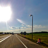 Sun Burst on the Road