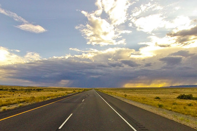 Silver and Gold Clouds on the Flatland