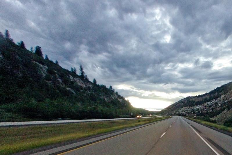Sundown between the Rock and Hills