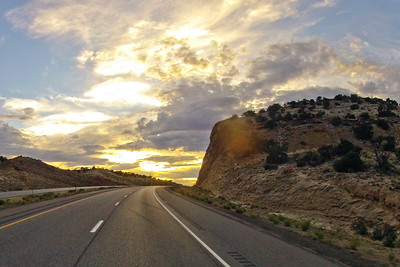 Rock and Golden Sky
