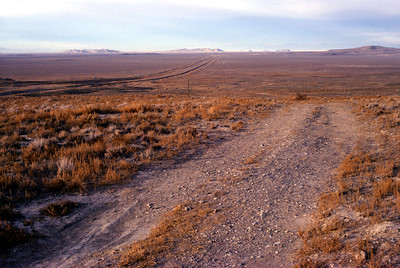 The trail left by thousands of wagons headed west.