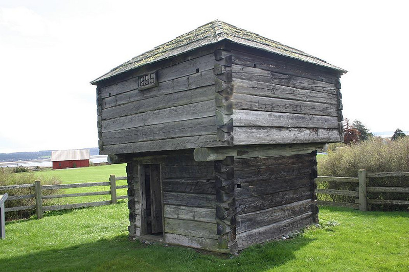 Colonel Walter Crockett built this Block House in 1857 as protection against Indian attacks. Preserved as part of the Ebey's Landing National Historical Reserve, it is still in fine condition.