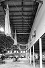Tuskegee Airmen National Historic Park, Moton Field - parachutes hanging in Hanger #1
