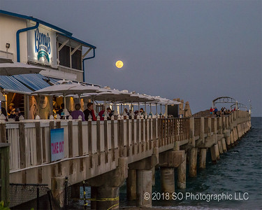 Full Moon at Benny's on the Beach