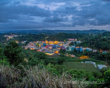 Barranquitas PR at Evening
