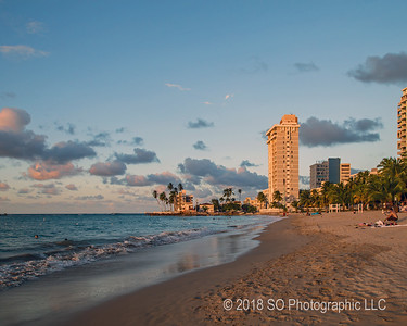 Isla Verde Beach at Golden Hour