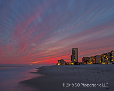 Red Sky at Gulf Shores AL
