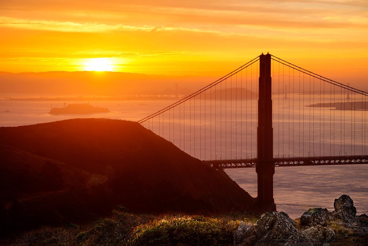 The Golden, Golden Gate.  San Francisco, California