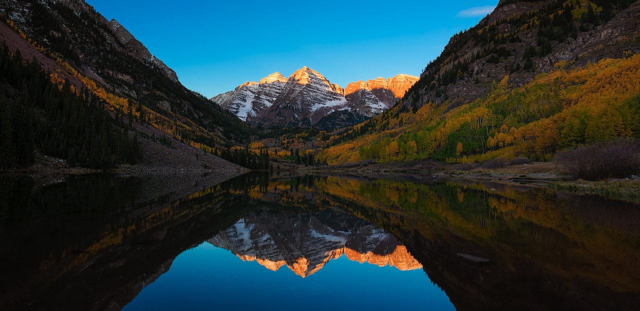 First Light at the Solitary Maroon Bells  |  Aspen, Colorado