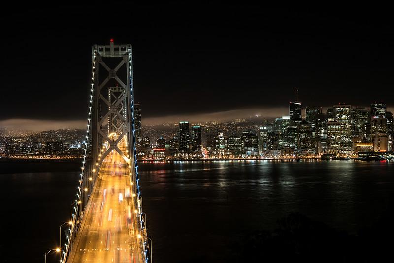 A pristine city skyline in San Francisco, California
