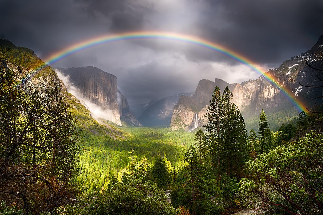 Yosemite's Rainbow.  Yosemite National Park, California.