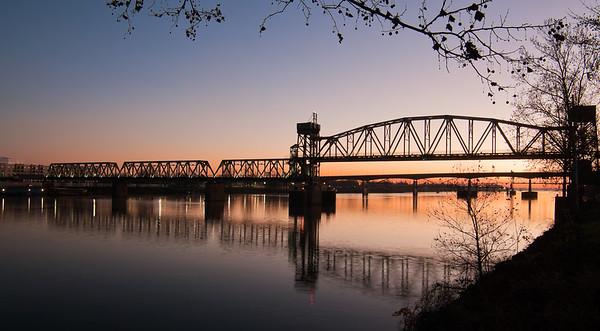 Sunrise over Junction Bridge