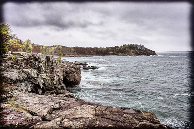 Rocky cliffs and the mansion by the sea...