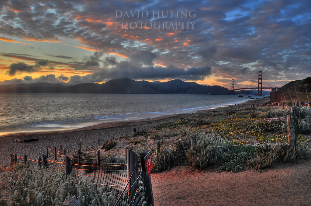 Baker Beach Sunset<br /> HDR