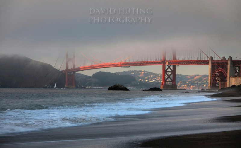 GG Bridge Fog View HDR