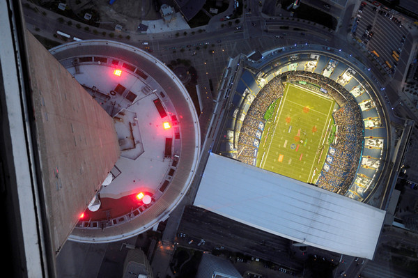 View of Rogers Stadium from top of CN Tower, Toronto
