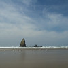 Smaller monoliths near Haystack Rock, Cannon Beach, Oregon