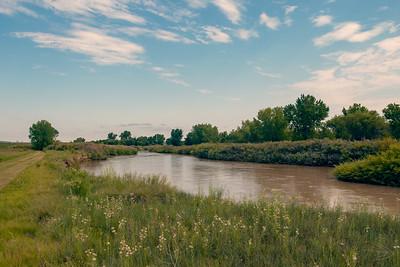 Arkansas River at Bent's Old Fort