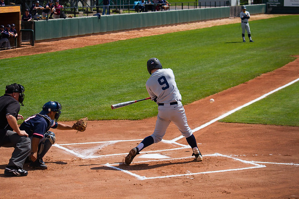 Hayden Calvert at bat