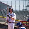 Hayden preparing to bat