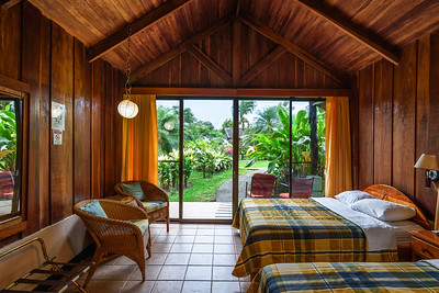 Interior of a room in the Hotel Lavas Tacotal, La Fortuna, Costa Rica