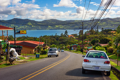 Drive towards Lake Arenal through the villages of Costa Rica