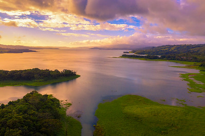 Sunset above Lake Arenal in Costa Rica