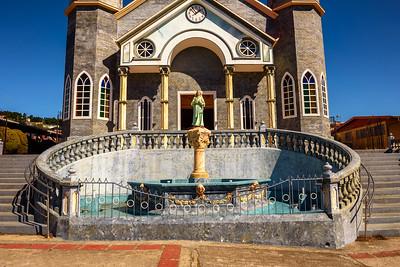 Catholic church called Iglesia de San Rafael in Zarcero, Costa Rica