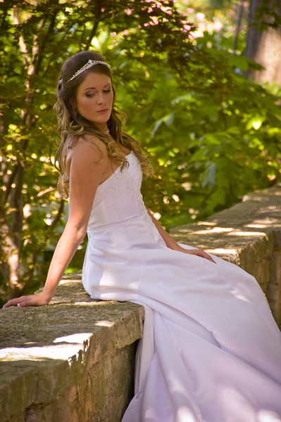 Bride at Dallas Arboretum