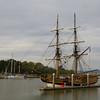 Old world sailing ship