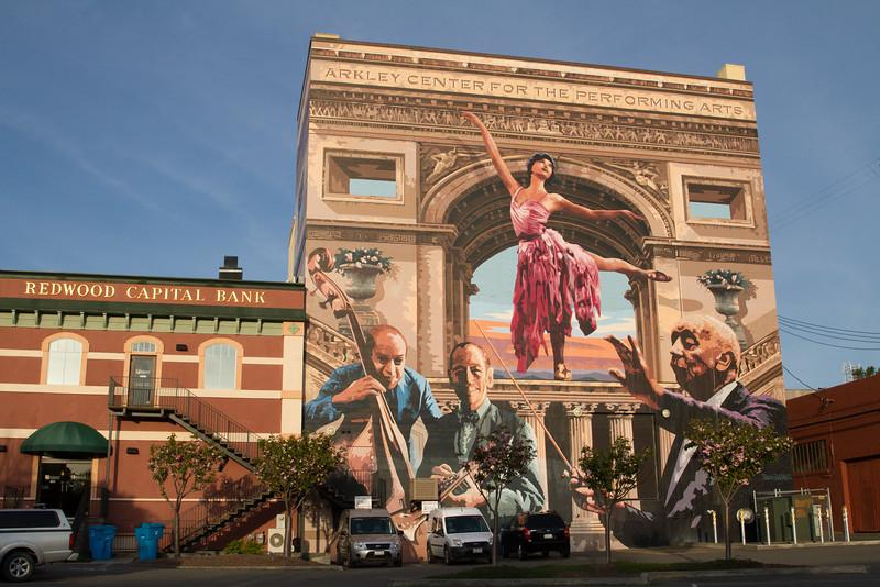 Wall mural, Eureka California