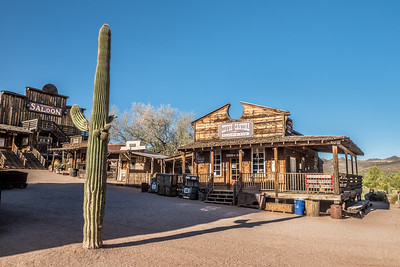Saloon and bakery in Goldfield Ghost town near Phoenix, Arizona