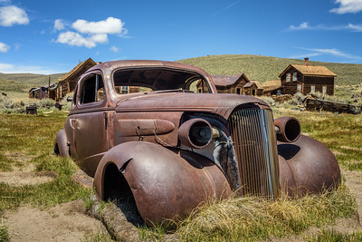 Car wreck in Bodie ghost town, California
