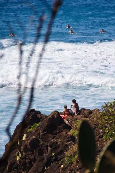 Surfing on Christmas Day, Maui, Hawaii