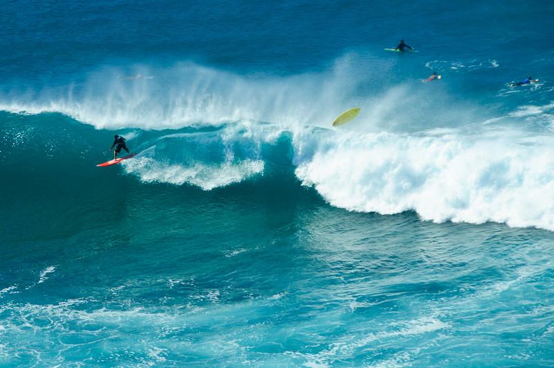 Surfers on Christmas Day, Maui, Hawaii