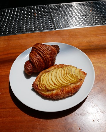 Republique: croissant & apple danish