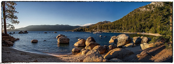 Sand Harbor, notably the most beautiful beach in Tahoe