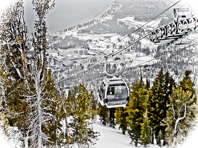 Gondola at Heavenly Ski Resort, Lake Tahoe, CA