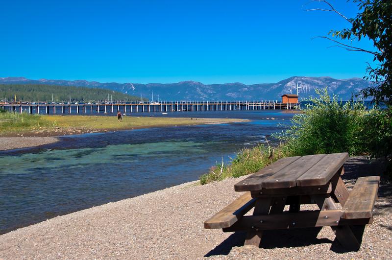 Tahoe City, CA.  At Lake Tahoe Dam.