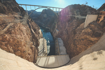 Colorado River at the Hoover Dam