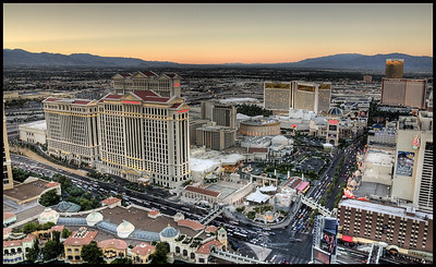 Caesar's Palace and Trump Hotel