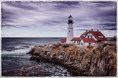 Two light lighthouse, Cape Elizabeth, Maine