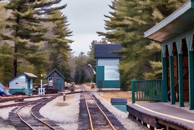 The track/station at WWE railway museum, alna, me. It was indeed an amazing place